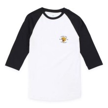 T-SHIRT VANS GROWLER RAGLAN white black