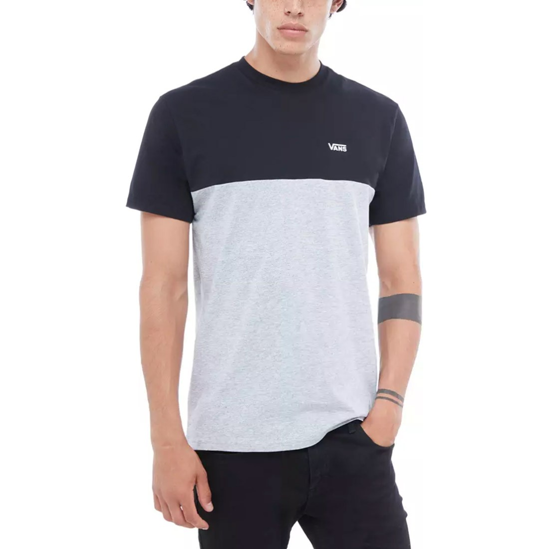 T-SHIRT VANS COLORBLOCK black grey