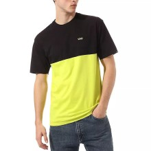 T-SHIRT VANS COLORBLOCK sulphur black