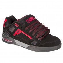 DVS DRONE BLACK RED NUBUCK