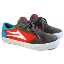 lakai kids pico grey red suede