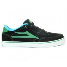 lakai kids encino black green suede