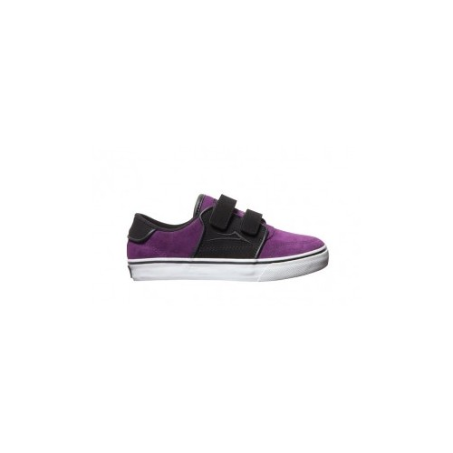 lakai kids carlo black purple suede