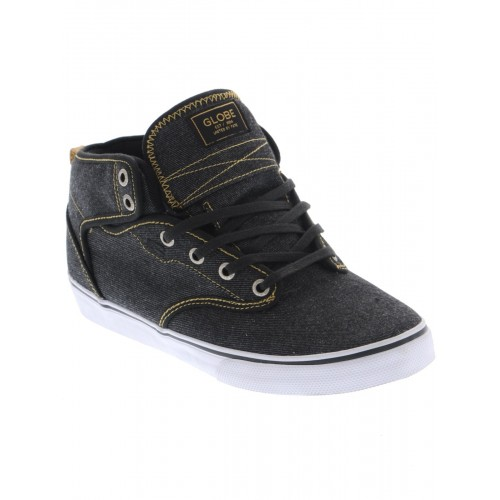 motley mid black denim curry