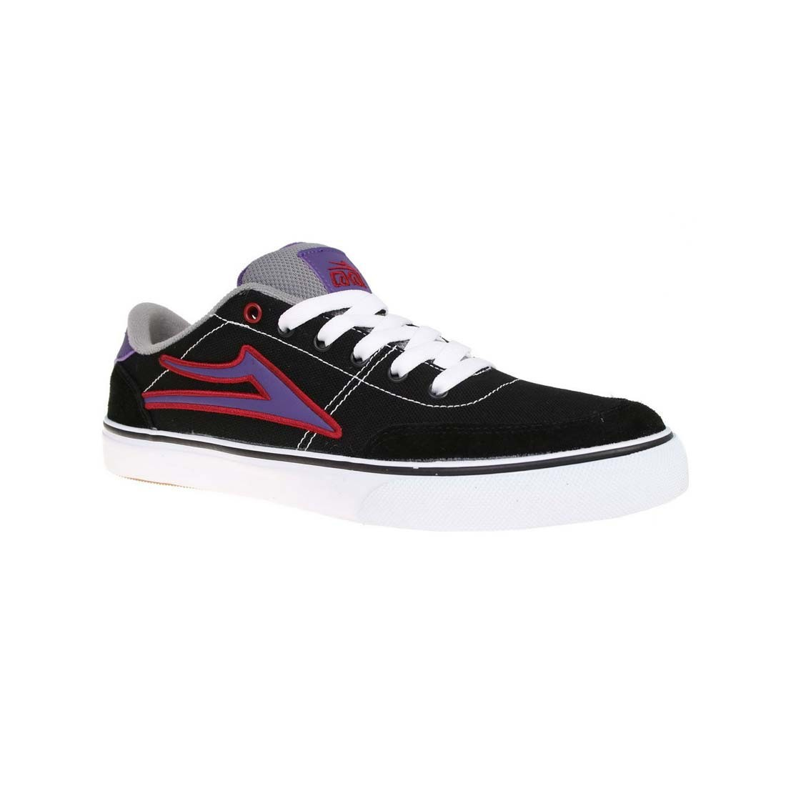 lakai encino kids black purple canvas