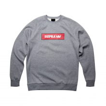 LOGO CREW grey heather