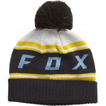 BONNET FOX BLACK DIAMOND POM lt grey