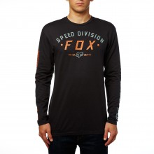 T-SHIRT FOX GROUND FOG LS black