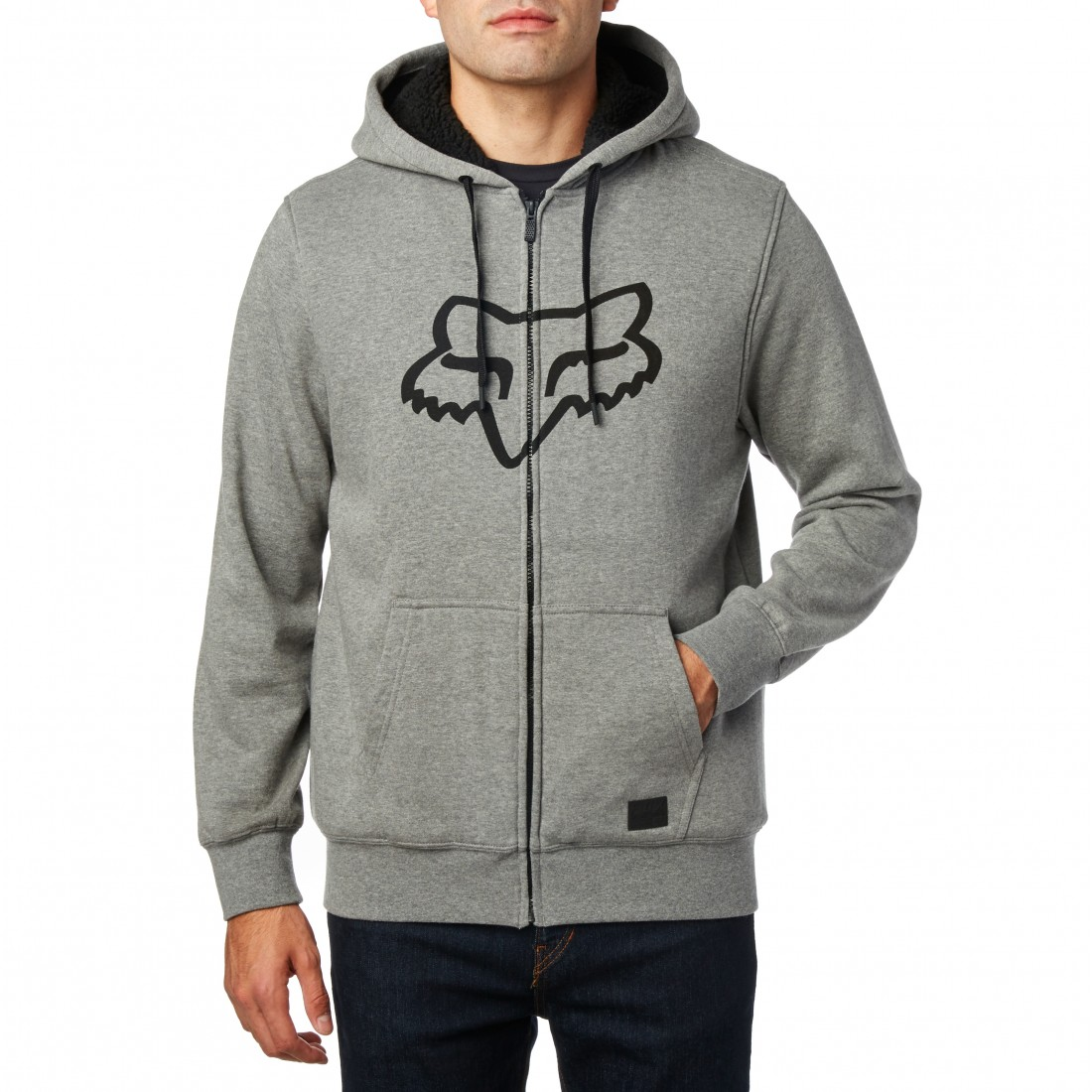 SWEAT FOX TRACKED SHERPA ZIP htr graph