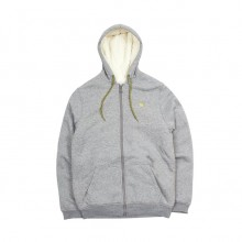 SWEAT ETNIES CLASSIC SHERPA ZIP FLEECE grey