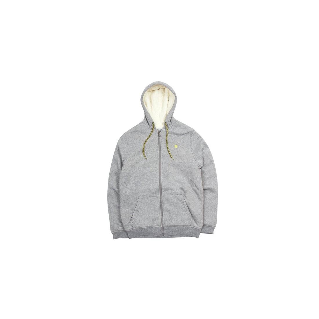 SWEAT ETNIES CLASSIC SHERPA ZIP FLEECE grey