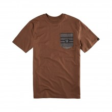 T-SHIRT EMERICA TAZE POCKET CHOCOLATE
