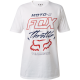 T-SHIRT FOX THROTTLRED white