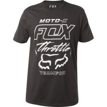 T-SHIRT FOX THROTTLED black vintage