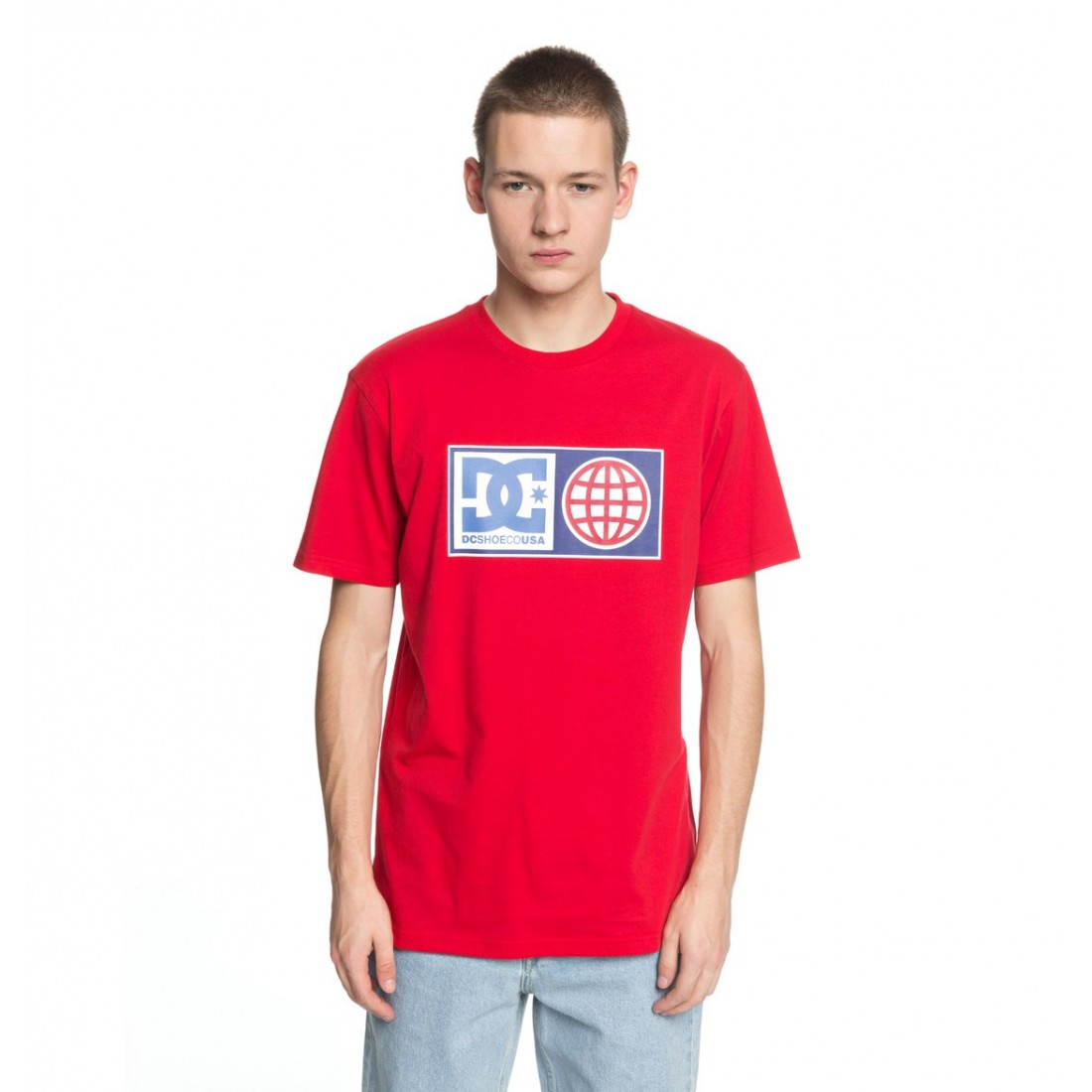 T-SHIRT DC GLOBAL SALUTE red