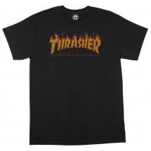 T SHIRT THRASHER flame halftone black
