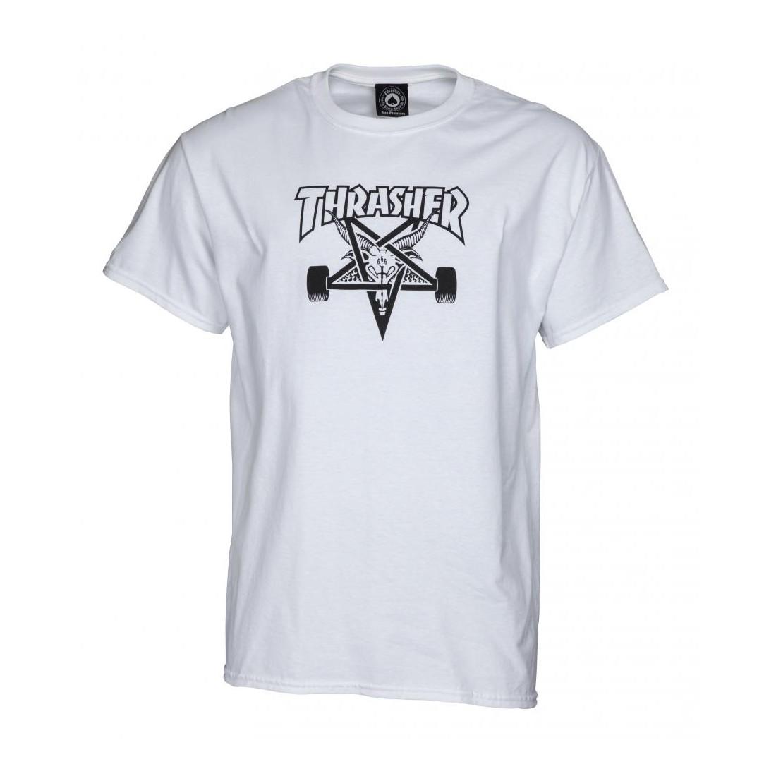 T Shirt Thrasher Skategoat white