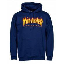 Sweat Thrasher Hoody flame logo navy