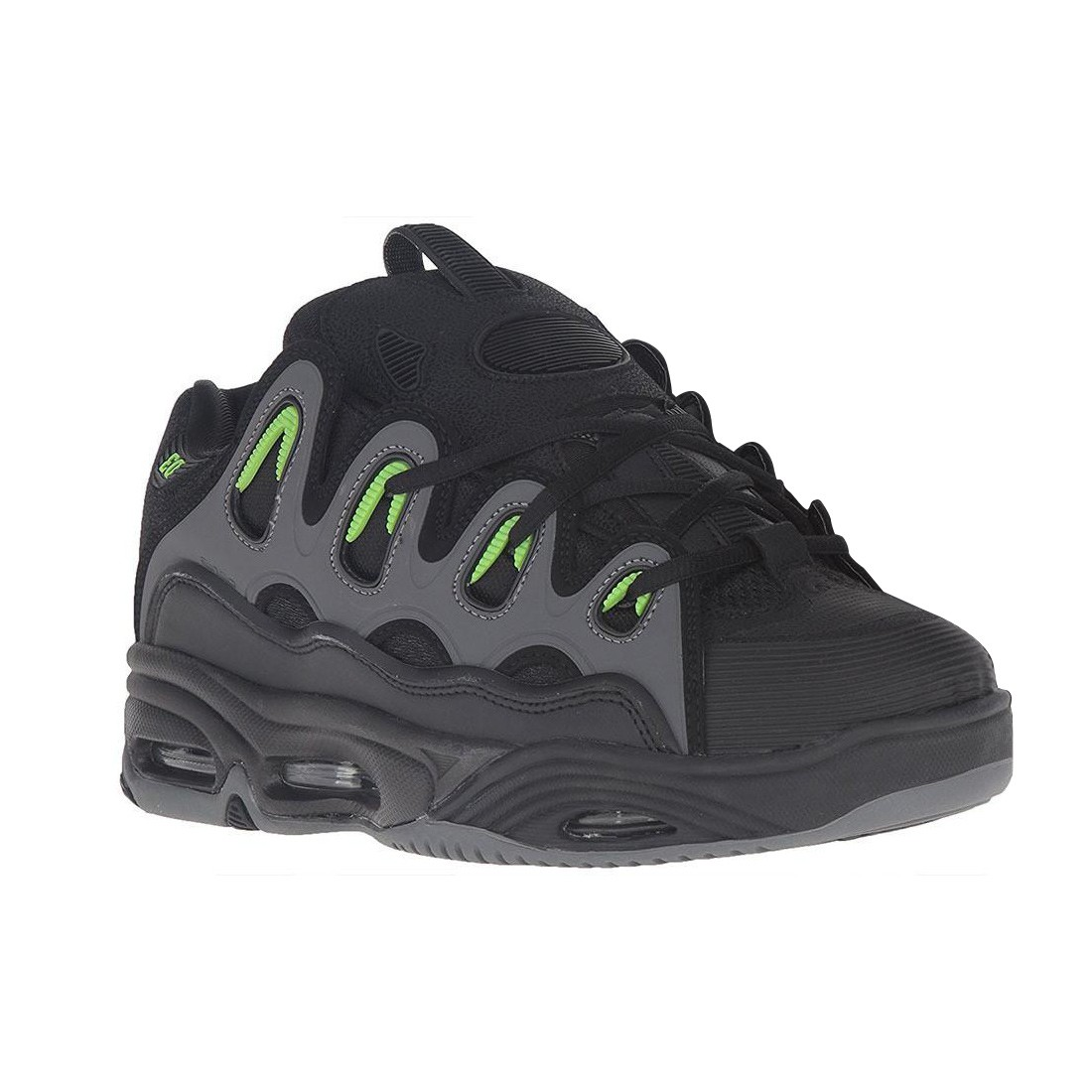 D3 2001 black green charcoal