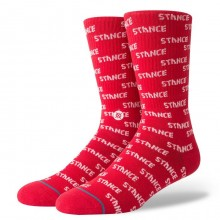 Chaussettes Stance REPEAT red