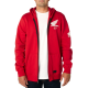 SWEAT FOX HONDA ZIP rouge