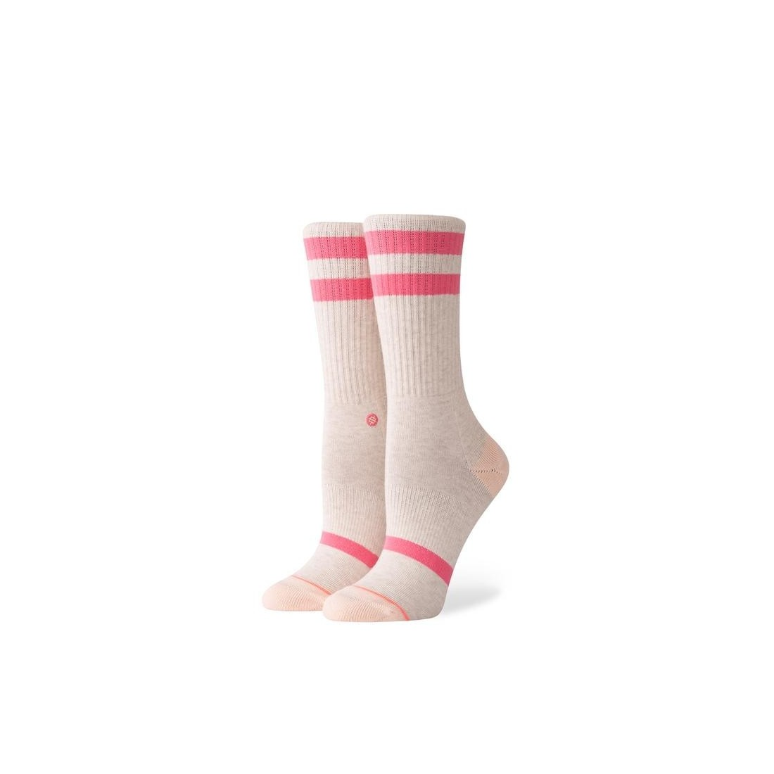 CHAUSSETTE STANCE UNCOMMON CREW heather pink