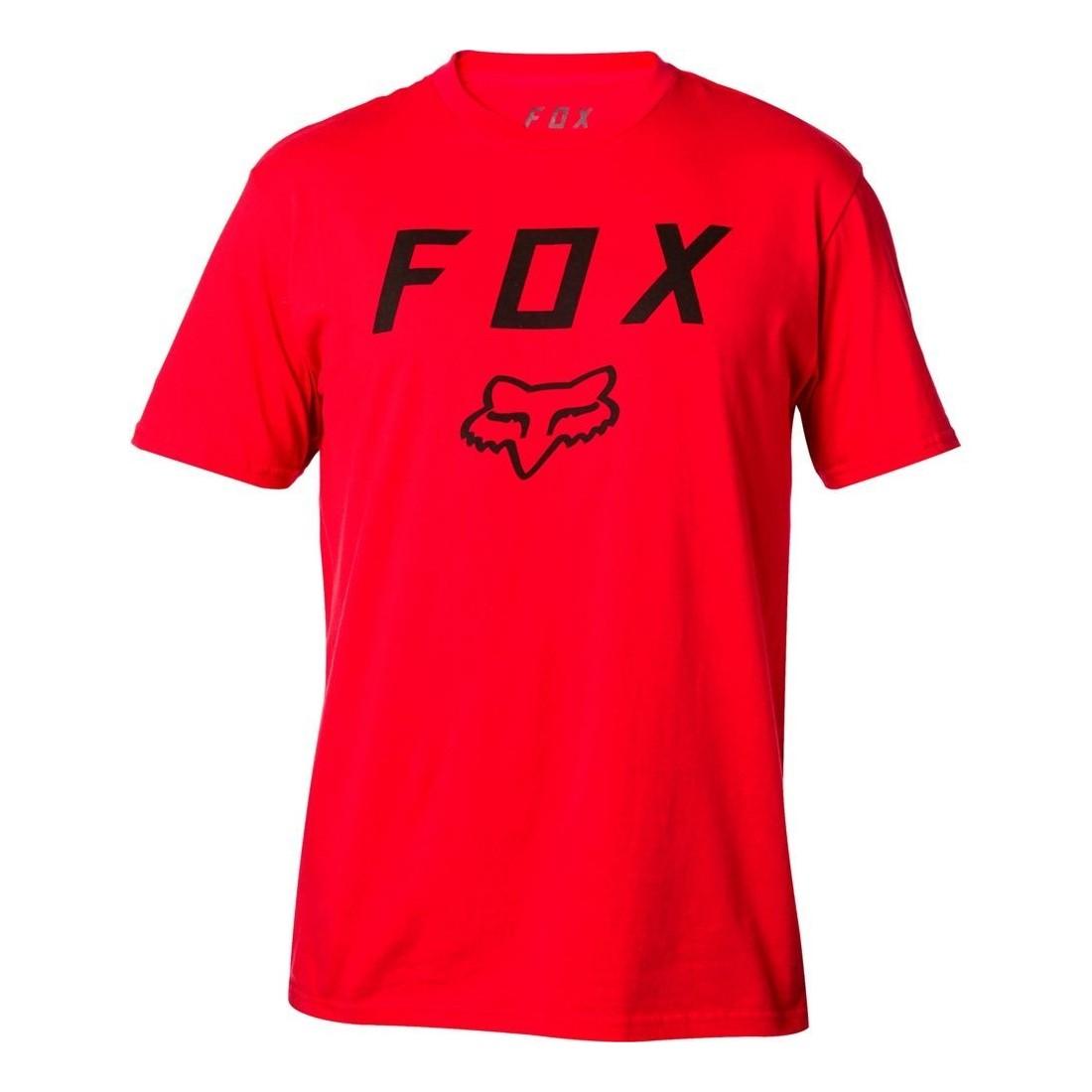 T SHIRT FOX LEGACY MOTH rouge