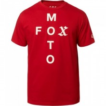 T SHIRT FOX MOTO CROSS rouge