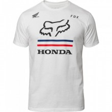T SHIRT FOX HONDA blanc