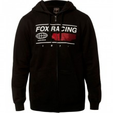 SWEAT FOX GLOBAL ZIP noir