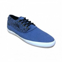 LAKAI CAMBY MID BLUE CHAMBRAY CANVAS
