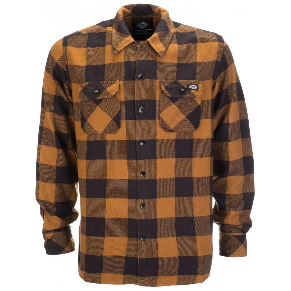 CHEMISE DICKIES SACRAMENTO flannel marron