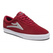 SHEFFIELD red silver suede