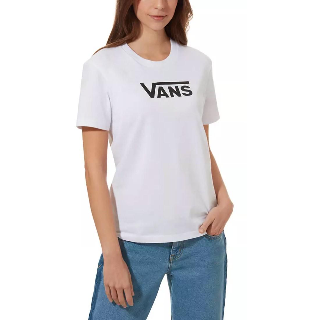 T-SHIRT FEMME VANS FLYING V WHT